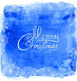 frame snowflakes on a blue watercolor vector image vector image