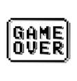 game over pixel design stamp vector image vector image