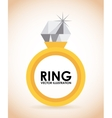 golden ring vector image