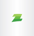 green logotype z letter sign vector image vector image