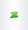 green logotype z letter sign vector image