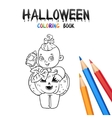 Halloween Coloring Book Cute Baby Cartoon vector image vector image
