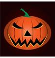 halloween gourd vector image vector image