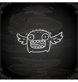 Hand Drawn Creature with Wings vector image vector image