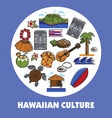 hawaiian symbols hawaii culture traveling and vector image vector image