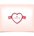 Heart with arrow and polka dot vector image