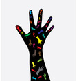 human hand vector image vector image