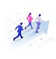isometric business success concept entrepreneur vector image vector image