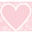 Lace rose pattern and heart vector image vector image