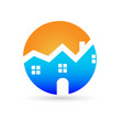 logo real estate house vector image