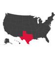 map of usa - texas vector image