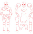 Medieval Knight Armour Set vector image vector image
