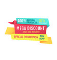 mega discount only this month vector image