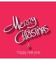 Merry Christmas typography handwriting vector image