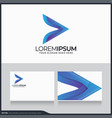 modern abstract arrow logo symbol design vector image vector image