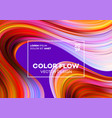 modern colorful flow poster wave liquid shape in vector image vector image