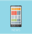 news flat design concept vector image