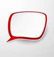 Paper white-red speech bubble vector image