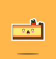 piece of cake kawaii character cartoon emoticon vector image vector image