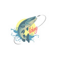 pike fishing vector image vector image
