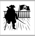 pirate and jolly roger - silhouette vector image vector image