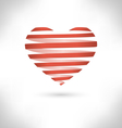 Red Spiral heart on grayscale vector image