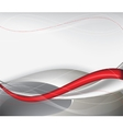 red tech abstract background composition vector image vector image