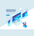 responsive technology vector image