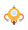 robot of yellow color smile vector image vector image