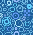 Seamless pattern or different gear wheels vector image vector image