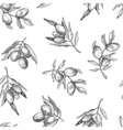 Seamless pattern with olive branches vector image vector image