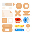 set of different plasters first aid kit vector image