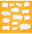 Set of various abstract speech bubbles vector image
