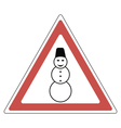 sign snowman attention vector image vector image