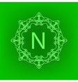 Simple Monogram N vector image