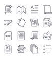 simple set document icons contains such icons vector image vector image