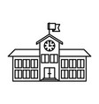 sketch silhouette image high school structure with vector image