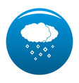 snow cloud icon blue vector image vector image