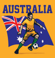 soccer player of australia vector image vector image