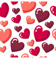 st valentine day pattern with pink and red hearts vector image