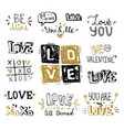 st valentines day hand lettering compositions vector image