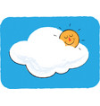 sun and cloud children vector image vector image