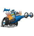 top fuel dragster cartoon vector image vector image