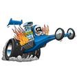 top fuel dragster cartoon vector image