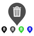 trash can marker flat icon vector image vector image