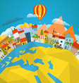 Travel concept Around the world vector image vector image