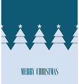 Vintage greeting card with Christmas trees vector image vector image