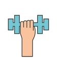 weight lifting gym isolated icon vector image vector image