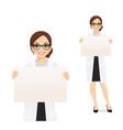 woman witn board vector image vector image