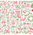 christmas design element in doodle style pattern vector image
